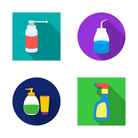 Isolated object of sprayer and liquid icon. Collection of sprayer and pesticide vector icon for stock.