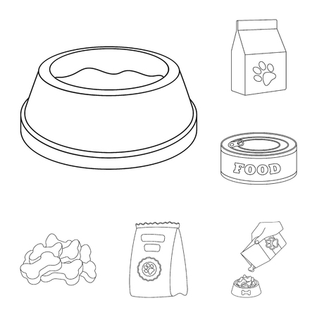 Vector illustration of food  and tin symbol. Collection of food  and bottle stock vector illustration.