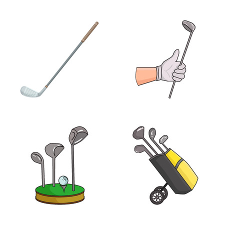 Vector illustration of stick and field sign. Collection of stick and club stock vector illustration.