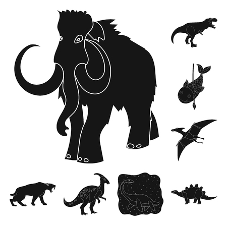Vector design of animal and character icon. Collection of animal and ancient  stock vector illustration.