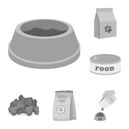 Isolated object of food  and tin sign. Collection of food  and bottle vector icon for stock.