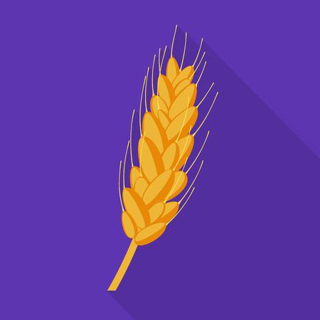 Projekt wektor logo pszenicy i kukurydzy. Zbiór pszenicy i żniwa symbol giełdowy dla sieci web. Logo