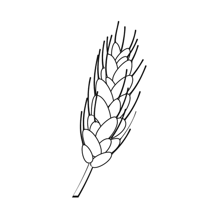 Vector design of wheat and corn sign. Collection of wheat and harvest vector icon for stock.
