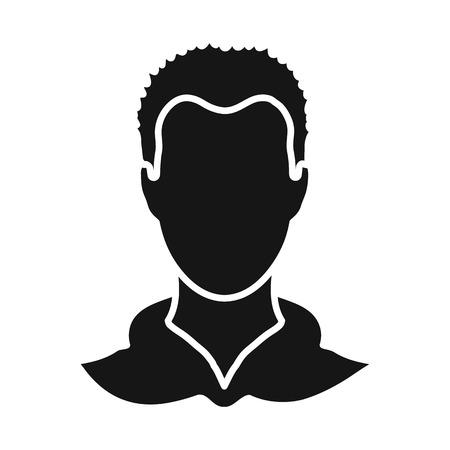 Disegno vettoriale di avatar e simbolo fittizio. Set di avatar e immagine stock illustrazione vettoriale. Vettoriali