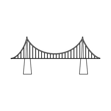 Projekt wektor logo mostów i mostów. Zestaw mostów i punkt orientacyjny wektor ikona na magazynie. Logo