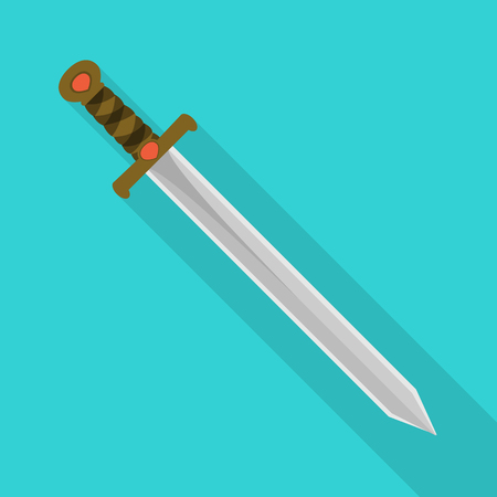 Isolated object of sword and dagger symbol. Set of sword and weapon vector icon for stock.