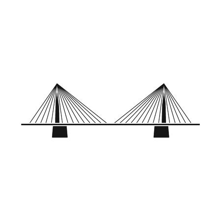 Vector design of bridgework and bridge logo. Set of bridgework and landmark stock symbol for web. Ilustração