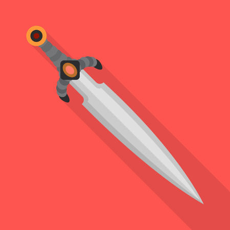 Isolated object of sword  and dagger. Collection of sword  and weapon vector icon for stock.