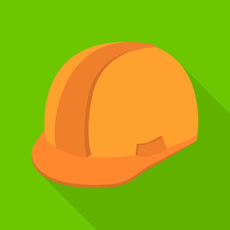 Vector illustration of headgear and napper sign. Set of headgear and helmet stock vector illustration.