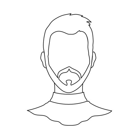 Isolated object of avatar and dummy sign. Set of avatar and image vector icon for stock.