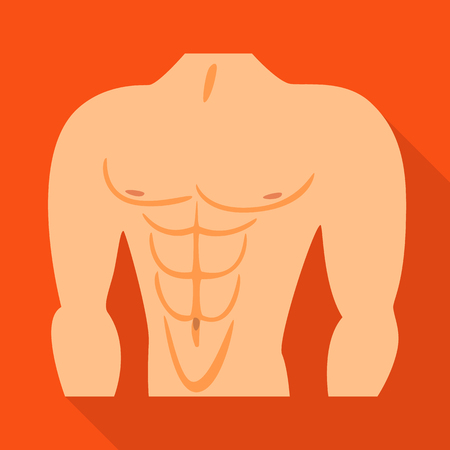 Isolated object of muscle and cells icon. Set of muscle and anatomy stock vector illustration.