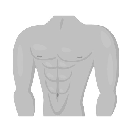 Vector illustration of muscle and cells logo. Collection of muscle and anatomy stock symbol for web.