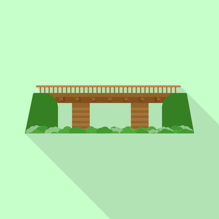 Vector design of bridgework and bridge symbol. Collection of bridgework and landmark stock vector illustration. Illustration