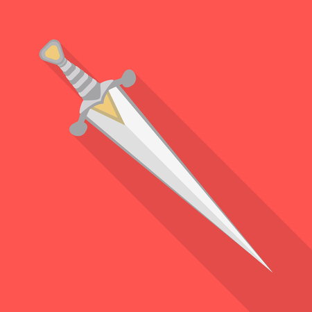 Vector design of sword  and dagger. Collection of sword  and weapon stock vector illustration. Illustration