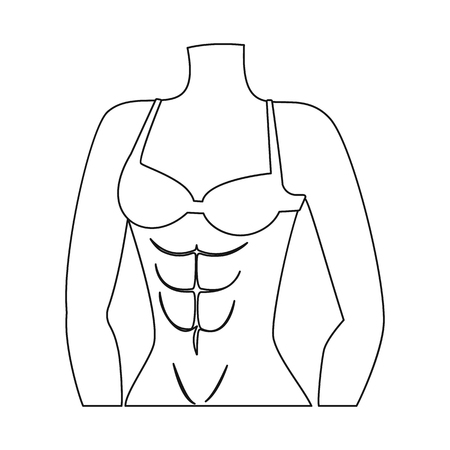 Vector design of muscle and cells symbol. Collection of muscle and anatomy stock symbol for web.