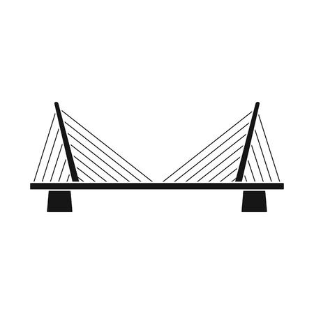 Isolated object of bridgework and bridge logo. Set of bridgework and landmark stock vector illustration.