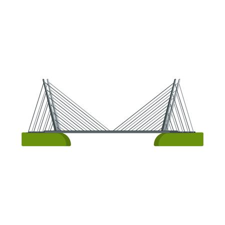 Vector illustration of bridgework and bridge logo. Set of bridgework and landmark stock symbol for web.