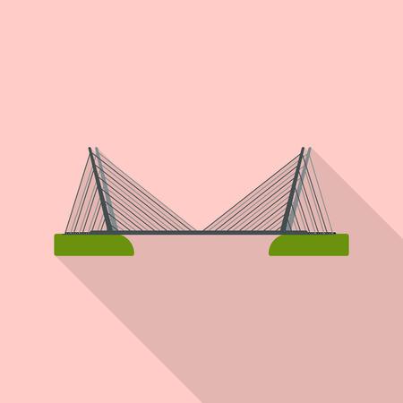 Isolated object of bridgework and bridge logo. Collection of bridgework and landmark vector icon for stock.