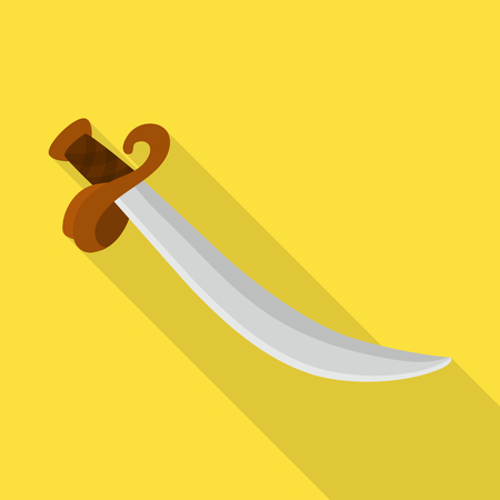 Vector design of sword  and dagger  sign. Set of sword  and weapon vector icon for stock.