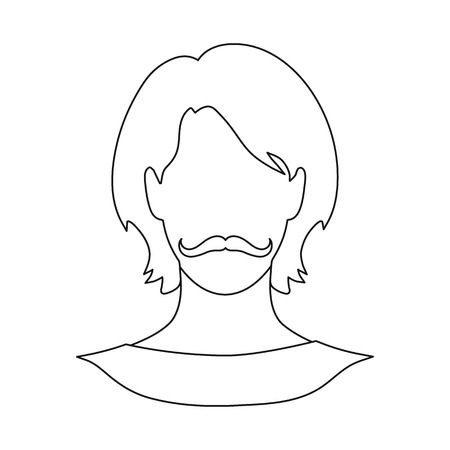 Vector illustration of avatar and dummy icon. Set of avatar and image stock vector illustration.