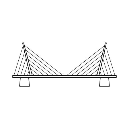 Vector design of bridgework and bridge icon. Collection of bridgework and landmark stock symbol for web.