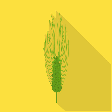 Vector illustration of wheat and corn logo. Collection of wheat and harvest stock vector illustration.
