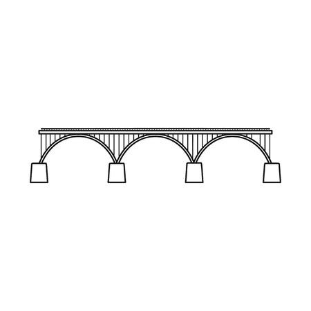 Vector design of bridgework and bridge icon. Collection of bridgework and landmark vector icon for stock.