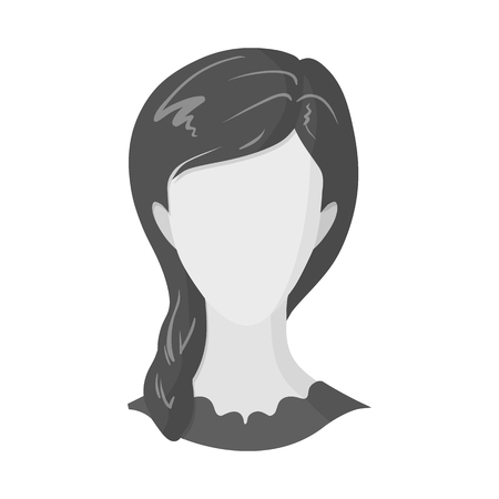 Vector illustration of avatar and dummy sign. Collection of avatar and image stock symbol for web. Vettoriali