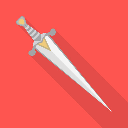 Isolated object of sword  and dagger  sign. Set of sword  and weapon stock symbol for web.