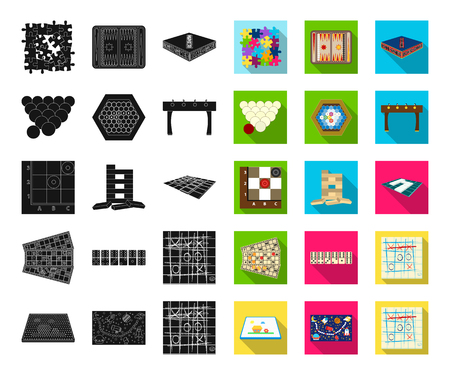 Board game black,flat icons in set collection for design. Game and entertainment vector symbol stock web illustration. Illustration