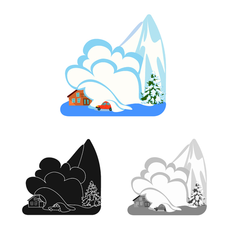 Vector design of weather and distress logo. Set of weather and crash stock vector illustration.