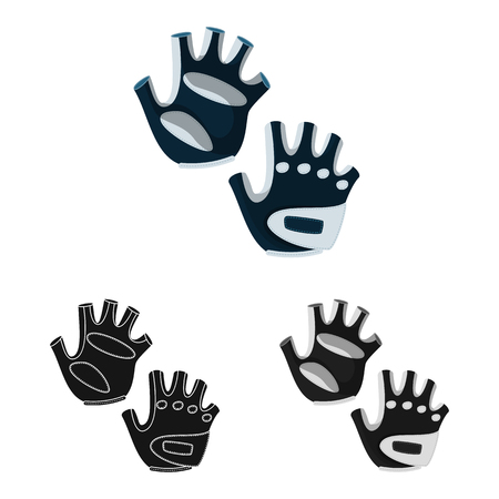 Isolated object of silhouette and safety icon. Set of silhouette and comfort stock symbol for web. Stock Illustratie