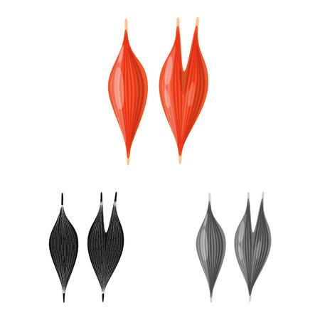 Vector design of biology and scientific logo. Set of biology and laboratory stock vector illustration. Illustration