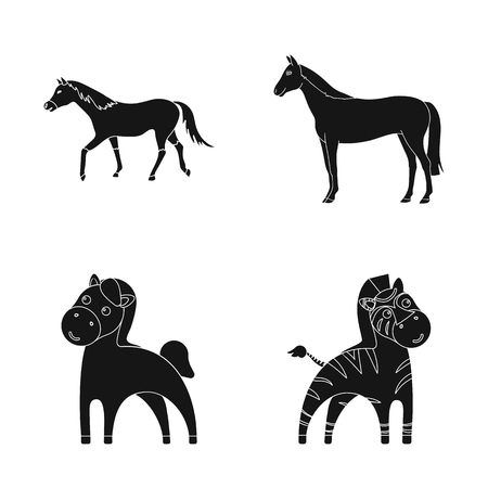 Isolated object of trot and running icon. Collection of trot and clipart vector icon for stock. 向量圖像