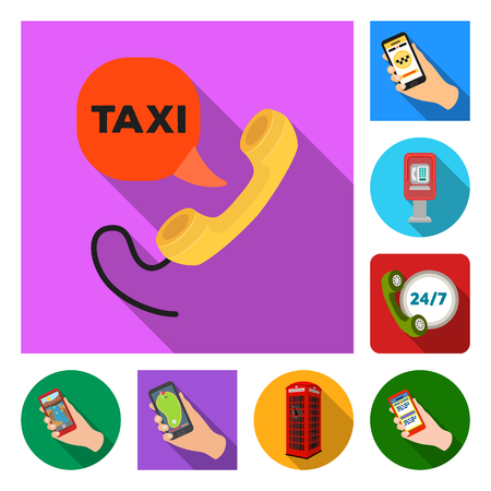 Isolated object of phone and screen sign. Set of phone and cellphone stock vector illustration. Stock Illustratie