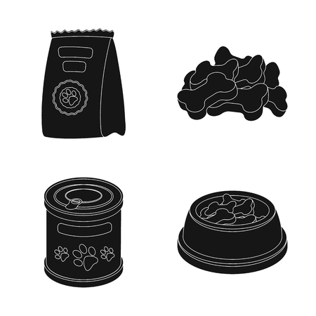 Isolated object of food  and tin. Set of food  and bottle stock symbol for web. Stock Illustratie