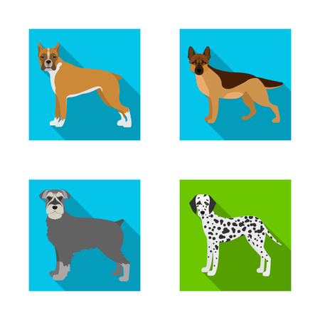 Vector design of  cute  and  icon. Collection of  cute  and  vector icon for stock.
