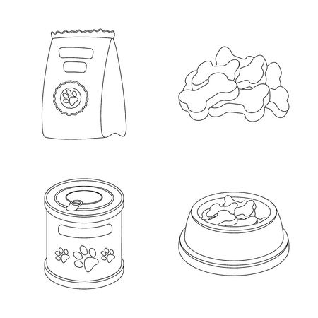 Isolated object of food  and tin icon. Set of food  and bottle stock symbol for web.  イラスト・ベクター素材