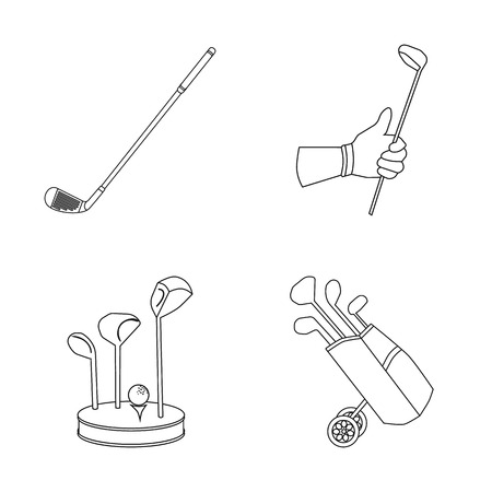 Vector design of stick and field symbol. Collection of stick and club stock symbol for web.