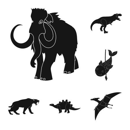 Isolated object of animal and character icon. Set of animal and ancient  stock vector illustration. Ilustração