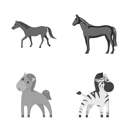 Vector illustration of trot and running icon. Set of trot and clipart stock symbol for web.
