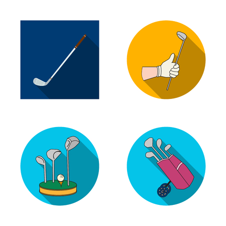 Vector illustration of stick and field icon. Collection of stick and club vector icon for stock. Illustration