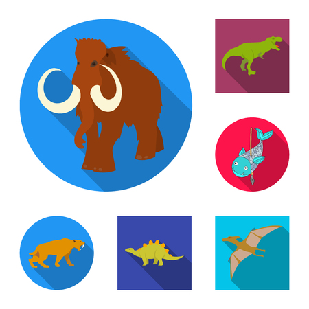 Vector design of animal and character symbol. Set of animal and ancient  stock vector illustration.