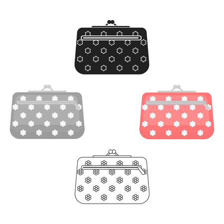 Cosmetic bag icon in cartoon style isolated on white background. Make up symbol stock vector illustration.