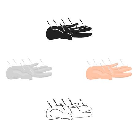 Acupuncture icon cartoon. Single medicine icon from the big medical, healthcare cartoon. Illustration