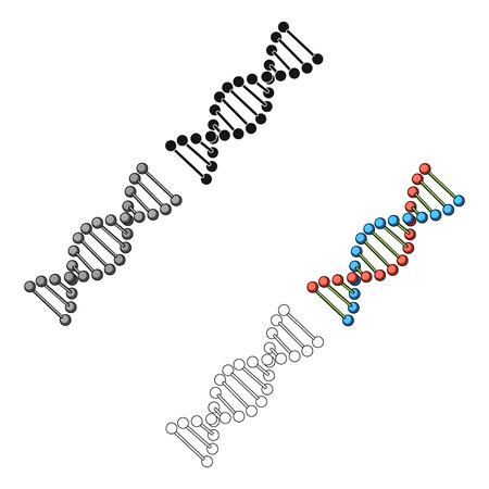 DNA chain.Medicine single icon in cartoon style vector symbol stock illustration web.