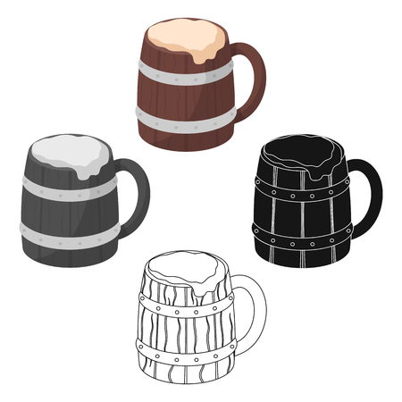 Viking ale icon in cartoon style isolated on white background. Vikings symbol stock vector illustration.