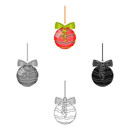 Christmas decoration single icon in cartoon,black,flat,monochrome style for design. Christmas vector symbol stock illustration web.