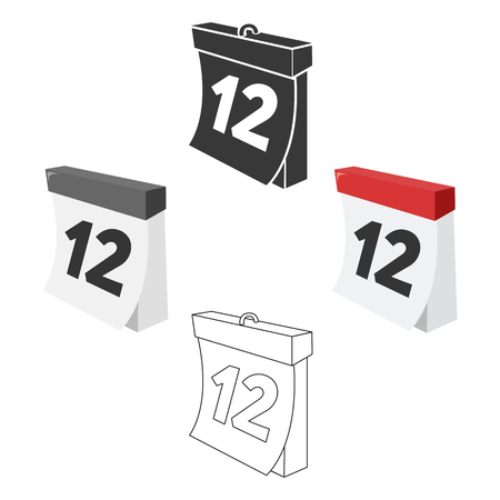 Calendar icon of vector illustration for web and mobile