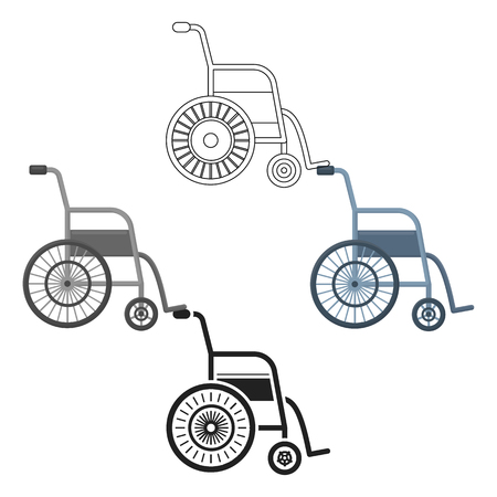 Wheelchair icon cartoon. Single medicine icon from the big medical, healthcare cartoon.